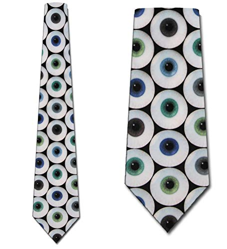 Eyeballs Ties Eye Neckties Optometrist Tie Mens Neck tie