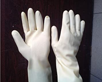Itemship- Paint Gloves Rubber Gloves Thicker Anti-acid Oil Paint Chemical Chemistry Industrial Gloves Paint Gloves (L-Black)