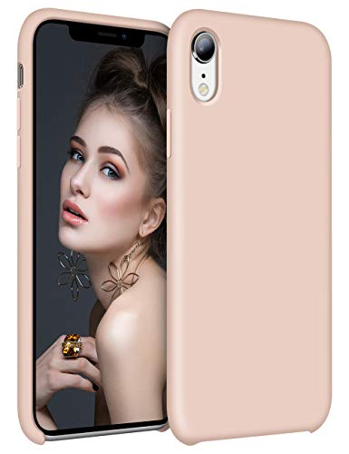- Vofolen Cover for iPhone XR Case Shockproof Raised Lip Silicone Rubber Bumper Back Armor Colorful Ultra Thin Hard Shell Cushion Lining Slim Fit Protective Case for Apple iPhone XR 10R (Pale Pink)