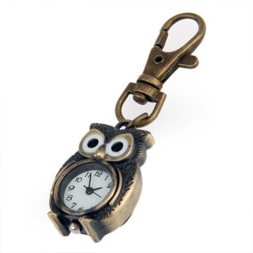 Pocket+watch+-+TOOGOO%28R%29Keychain+Clock+Keyring+Owl+Shape+37x24mm