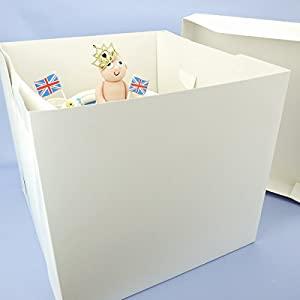 12 x 11 Inch Tall Cake Box For Stacked Cake (1): Amazon.co.uk ...
