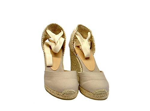 Castañer Castaner Femme CARINA106PIETRA Beige Tissu Chaussures Compensées