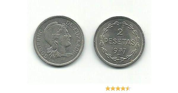 Matidia Moneda Original 2 PESETAS Gobierno DE EUSKADI 1937 ...