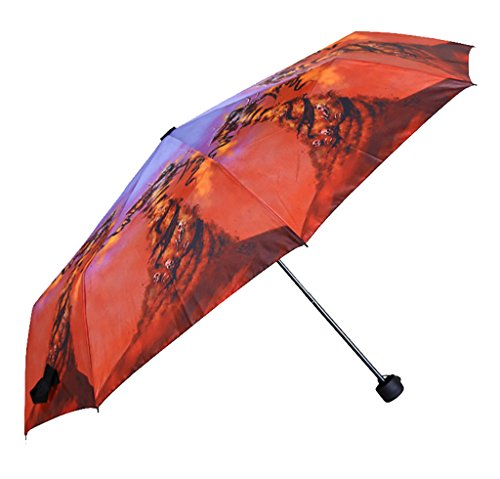 Generic Portable Large Size Umbrella Size 55inch Color Red by Generic