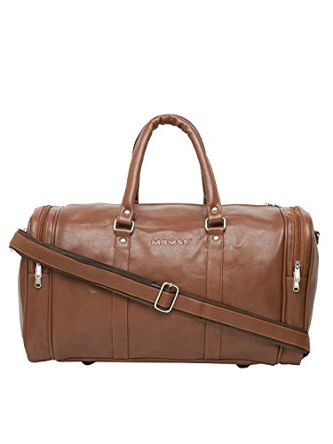 MBOSS Tan 37 Liter Faux Leather Duffel Travel Bag