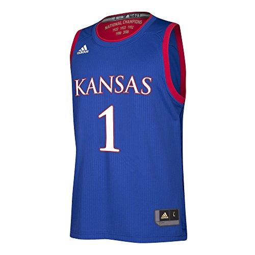 NCAA Kansas Jayhawks Replica Jersey, Royal, X-Large