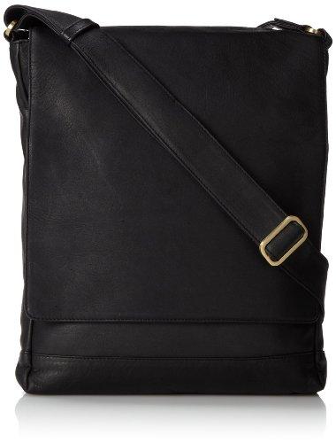 3/4 Flap Messenger Bag (Derek Alexander Ns 3/4 Flap Unisex Messenger Bag, Black, One Size)