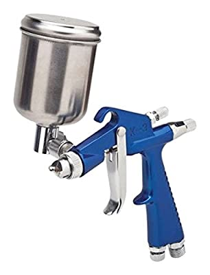TruePower 03-0859 Car Spray Paint Gun (Mini HVLP Gravity Feed Detail and Touch Up, 0.6 Needle/Nozzle)