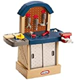 Little Tikes Tough Workshop Fun Kid Size Workbench - No Chokables Helps Develop Hand Eye Coordination Skills - Easy Assembly and Well Balanced Very Durable
