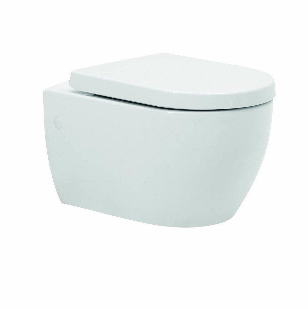Kartell Metro-K Ceramic Wall Hung Toilet Pan With Soft-Close Seat Kartell UK