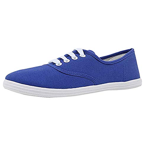 - Canvas Flat Sneakers for Women,ONLYTOP Women Summer Sneakers Low Top Lace Up Lightweight Casual Slip on Shoes Navy