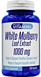 White Mulberry Max Strength 1000mg – 200 Capsules – Best Value White Mulberry Supplement on Amazon – Helps to Support Blood Sugar and Cholesterol Levels