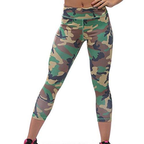 Aelegant Femme Slim Fit Leggings de Sport Pantalon Court Collant Tights pour Yoga Fitness Jogging