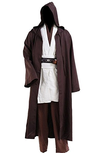 Halloween Outfits For Men (YANGGO Party Robe Costume Halloween Tunic Outfit US Size (Men Small, Brown))
