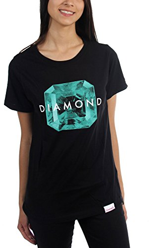 Diamond Supply Co. - Womens Rare Gem T-Shirt, Size: Large, Color: Black/Green (Diamond Supply Co Shirts Women compare prices)