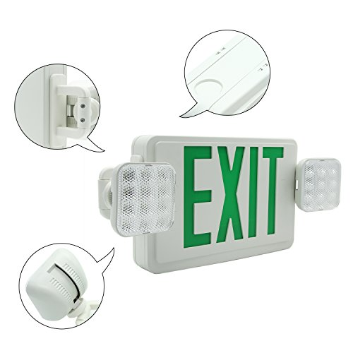Ainfox 6 Pack LED Exit Sign Emergency Wall Light, Back -up Letter Cover (green/6pack) by Ainfox (Image #3)