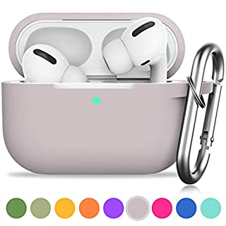 AirPods Pro Case, GMUDA Protective Silicone Cover with Keychain, Compatible with Apple AirPods Pro, Front LED Visible (Sandy Tan)