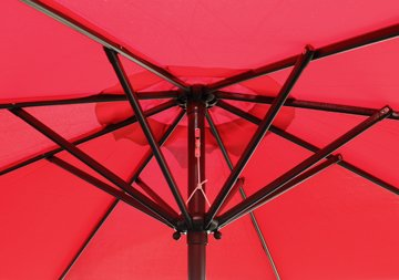 GotHobby 9ft Outdoor Patio Umbrella Aluminum w/ Tilt Crank - Red - Condition: Brand new Diameter: 9'ft 180D polyester and UV protection - shades-parasols, patio-furniture, patio - 41HkIk7XyUL -