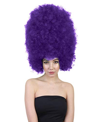 Cheap Wigs Online (Halloween Party Online Super Size Jumbo Afro Wig Collection, Adult & Kids Breathable Capless Cap (Adult,)