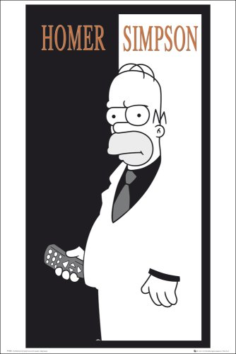 The Simpsons Scarface Maxi Poster https://amzn.to/2A8N1Vw