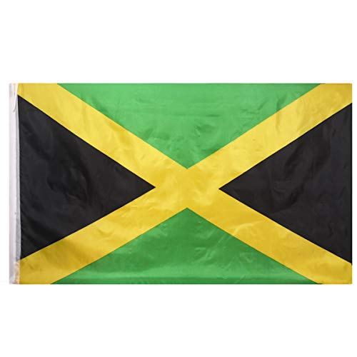 Oniche Jamaica Flags Outdoor 3x5 Feet Jamaica Flags Large Jamaican National Flag Banners Polyester Flags with Brass Grommets(Jamaican Flag) ...