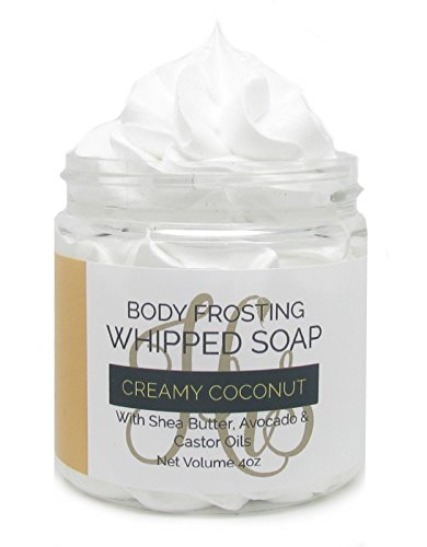(Creamy Coconut Whipped Soap | Homemade Soap | Body Wash | Shaving Soap | Cream Soap)