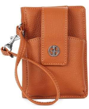 giani-bernini-handbag-softy-grab-go-wrist-wallet-brown-color