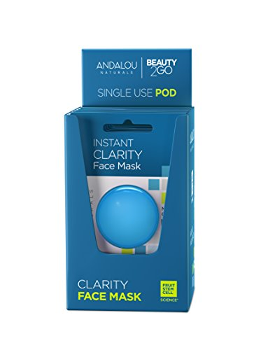 Andalou Naturals Instant Clarity Argan Oil and Blue Clay Mask Pod, 0.28 Ounce Pods (6 Count)
