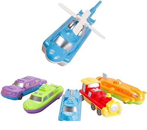 Set of 6 STEM Match Construction Toys for Kids Liberty Imports Magnetic Play Vehicles Custom Mix Building Blocks Kit DIY Build Your Own Dream Car