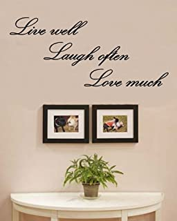 Amazoncom WALL DECALS Live Laugh Love Lettering Wall - Wall decals live laugh love
