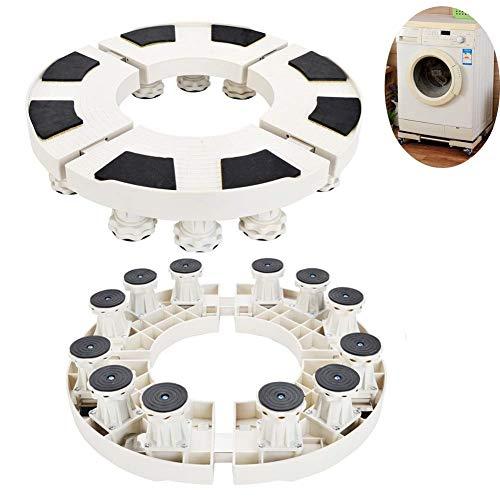 Base- Adjustable Washing Machine Base Stand, Refrigerator Holder Bracket Fridge Base Stand Mobile Bases Multi-functional Movable Round (Size : 12feet)