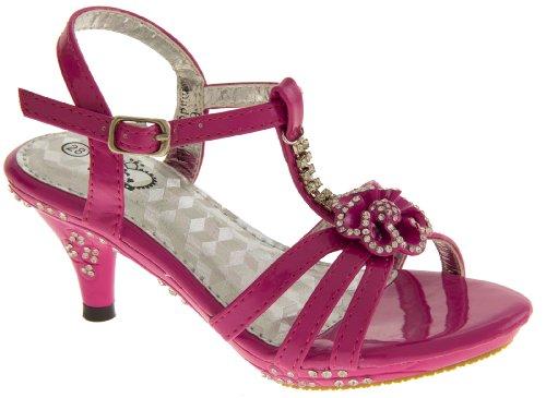 Footwear Studio - Sandalias de vestir para niña rosa - rosa