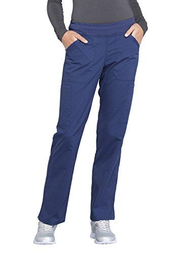 Professional Uniform (Cherokee Workwear Professionals by Women's Elastic Waistband Pull On Cargo Scrub Pant Medium Navy)
