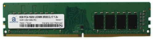 (Adamanta 8GB (1x8GB) Desktop Memory Upgrade for Dell, HP & Lenovo Desktop Systems DDR4 2400Mhz PC4-19200 Unbuffered DIMM 2Rx8 CL17 1.2v RAM DRAM)