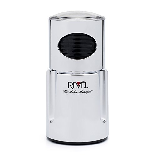 Revel CCM104CH Chrome Wet and Dry Coffee Spice Grinder, 220 Volts (Not for USA - European Cord)