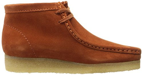 Clarks Hombres Wallabee Boot bronce Suede Rust Vintage