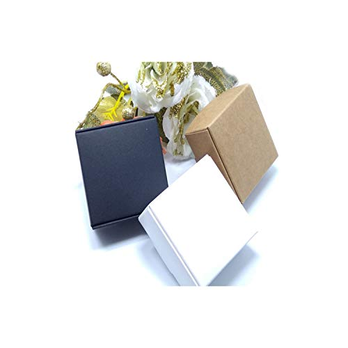 50Pcs New Diy Kraft Paper/Black/White Gift Box For