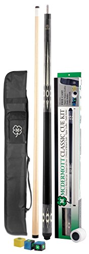 Billiard Cue Mcdermott Stick Pool (McDermott Classic Pool Cue Kit (Dark Gray, 20oz))