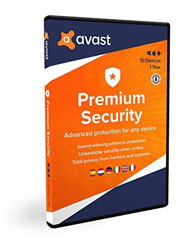 Avast Premium Security | Meerdere Apparaten | 10 apparaten | 1 jaar | Box