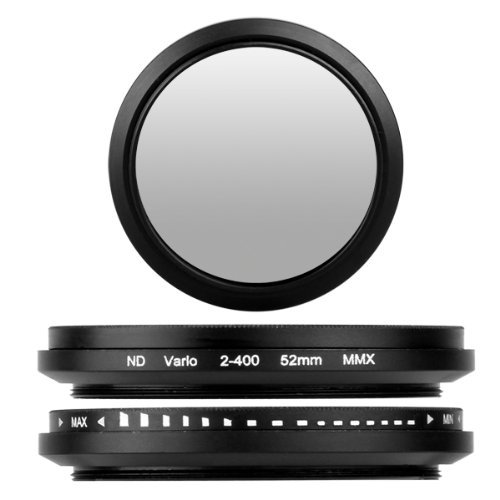 SODIAL(R) 52mm Adjustable Neutral Density ND Fader Filter ND2 ND4 ND8 to ND400 011993