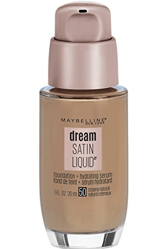 Maybelline Dream Satin Liquid Foundation (Dream Liquid Mousse Foundation), Creamy Natural, 1 fl. oz.