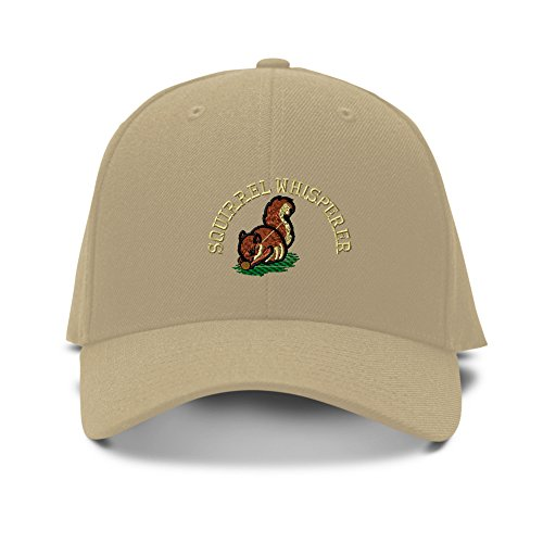 (Speedy Pros Squirrel Whisperer Embroidery Adjustable Structured Baseball Hat)