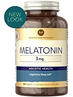Vitamin World Melatonin 3 mg 480 tablets