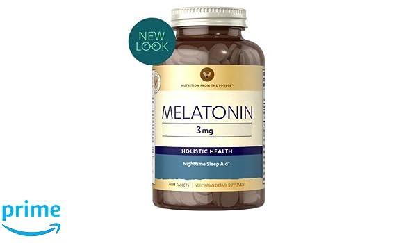 Amazon.com: Vitamin World Melatonin 3 mg 480 tablets: Health & Personal Care