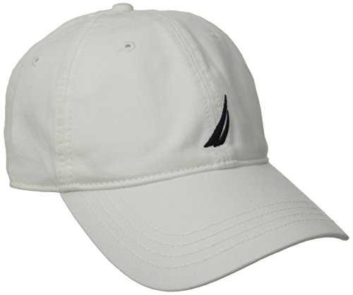 Nautica Men's Twill 6-Panel Cap, White, One Size