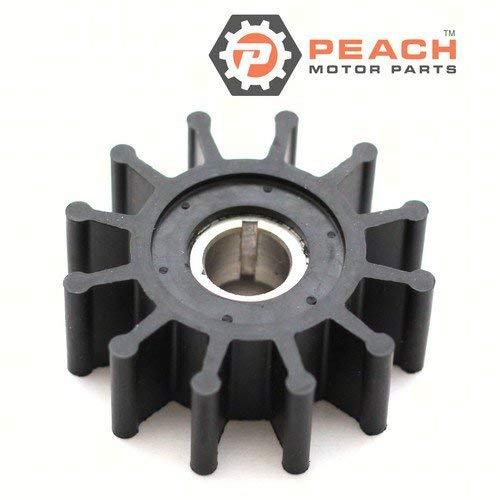 Peach Motor Parts PM-10077K Impeller, Water Pump (Neoprene); Replaces Sherwood: 10077K, Westerbeke: 33112, 11764, 33100, CEF: 500166, JMP: 7110, DJ Pump: 08-32-1201, Onan: 132-0375, 132-0 Made b