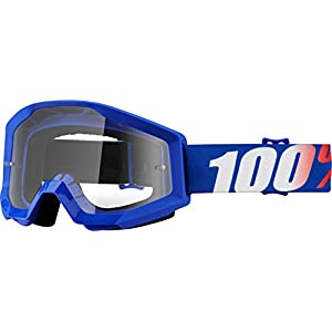 100% Strata Adult Off-Road Goggles - Nation/Clear Lens/One Size