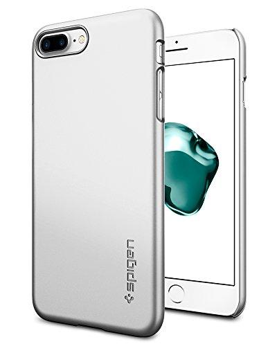 ぴったり国民シェルター【Spigen】 スマホケース iPhone7 Plus ケース レンズ保護 超薄型 超軽量 シン?フィット 043CS20735 (サテン?シルバー)