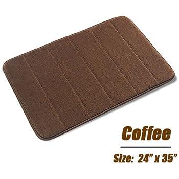 Amazon.com: Memory Foam Bathrug – Chocolate (Brown) Bath Mat and ...