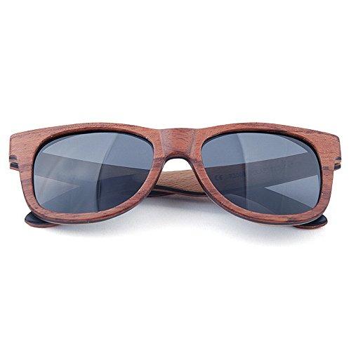 de Retro de los calidad sol polarizadas alta madera de de de de marrón a Gafas de lente de retro hombres la Gafas hechas Gafas color TAC las gaf conduce sol del mano sol que Protección ULTRAVIOLETA la rCw0r5